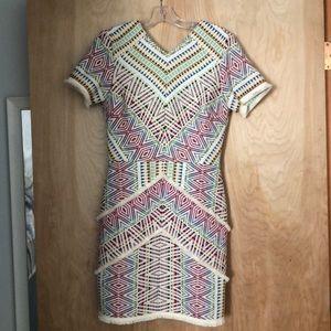 NWT Adelyn Rae Jaylene Jacquard Dress M MULTICOLOR